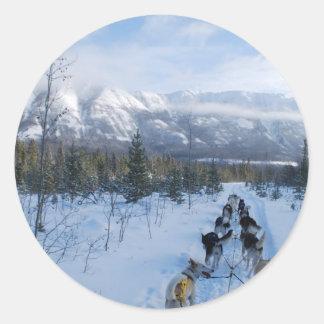 ParrotSleds - Landscape Classic Round Sticker