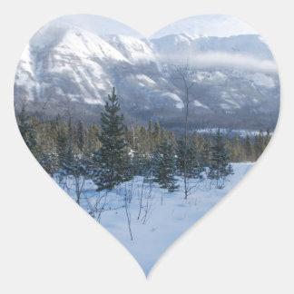ParrotSleds - Landscape Heart Sticker