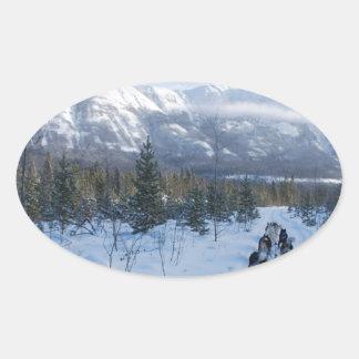 ParrotSleds - Landscape Oval Sticker