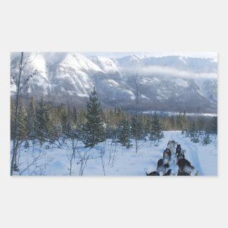 ParrotSleds - Landscape Rectangular Sticker