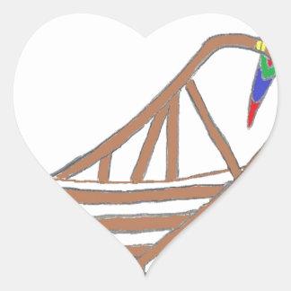 ParrotSleds Logo Heart Sticker