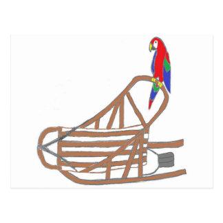 ParrotSleds Logo Postcard