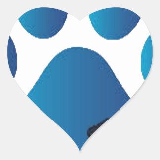 ParrotSleds - Tarheel logo Heart Sticker