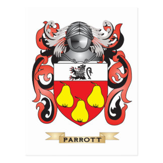 Parrott Coat of Arms Family Crest Post Card