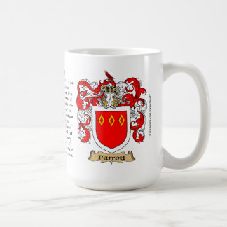 Parrott Family Coat of Arms Coffee Mug