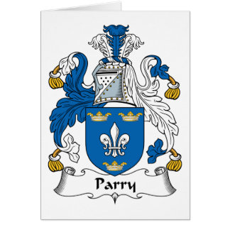 Parry Family Crest Card