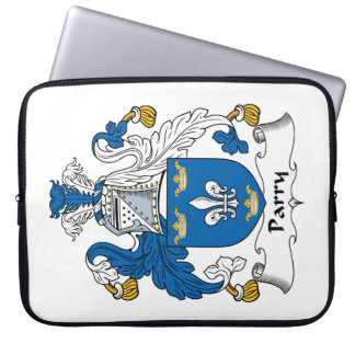 Parry Family Crest Laptop Computer Sleeve