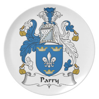 Parry Family Crest Party Plate