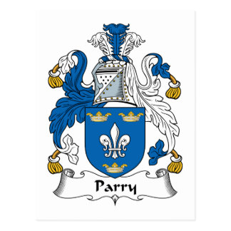Parry Family Crest Post Card