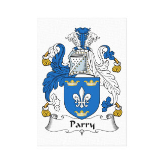 Parry Family Crest Stretched Canvas Print