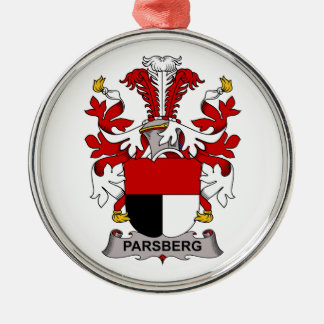 Parsberg Family Crest Round Metal Christmas Ornament