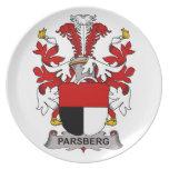 Parsberg Family Crest Plates