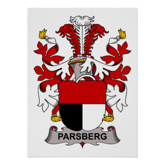 Parsberg Family Crest Posters