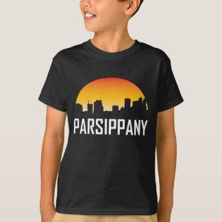 Parsippany New Jersey Sunset Skyline T-Shirt