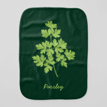 Parsley Baby Burp Cloth
