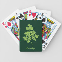 Parsley Bicycle Playing Cards