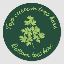 Parsley Classic Round Sticker