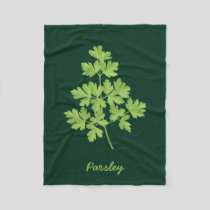 Parsley Fleece Blanket
