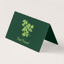 Parsley Horizontal Business Card