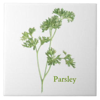 Parsley - Large Ceramic Tile