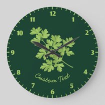 Parsley Large Clock