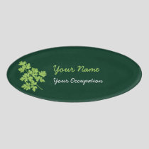 Parsley Oval Name Tag