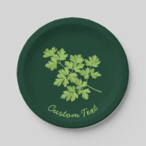 Parsley Paper Plate