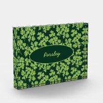 Parsley Pattern Acrylic Award