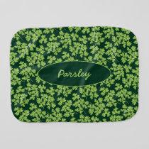 Parsley Pattern Baby Burp Cloth