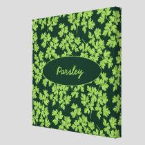 Parsley Pattern Canvas Print
