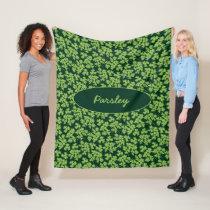 Parsley Pattern Fleece Blanket