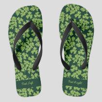 Parsley Pattern Flip Flops