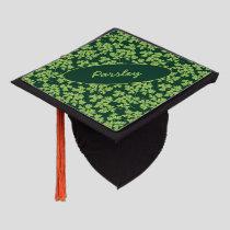 Parsley Pattern Graduation Cap Topper