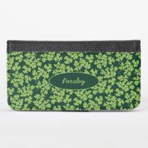 Parsley Pattern iPhone XS Wallet Case