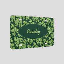 Parsley Pattern License Plate