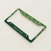 Parsley Pattern License Plate Frame