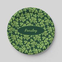 Parsley Pattern Paper Plate