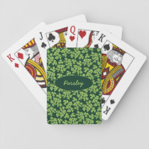 Parsley Pattern Playing Cards