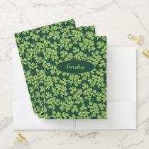Parsley Pattern Pocket Folder