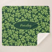Parsley Pattern Sherpa Blanket