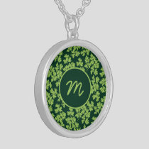 Parsley Pattern Silver Plated Necklace