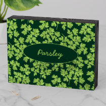 Parsley Pattern Wooden Box Sign
