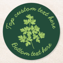 Parsley Round Paper Coaster