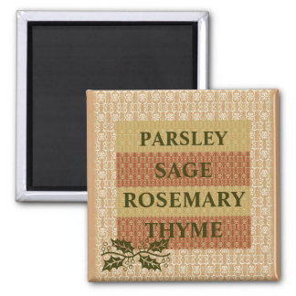 PARSLEY,SAGE ROSEMARY,THYME,KITCHEN MAGNET