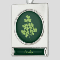 Parsley Silver Plated Banner Ornament
