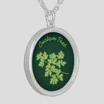 Parsley Silver Plated Necklace