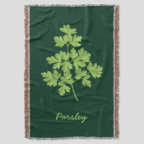 Parsley Throw Blanket