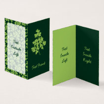 Parsley Vertical Business Card