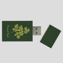 Parsley Wood Flash Drive