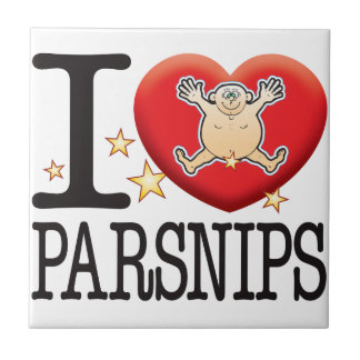 Parsnips Love Man Small Square Tile